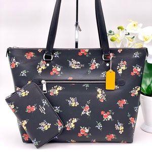 Coach Gallery Tote Shoulder Bag and Wallet Set